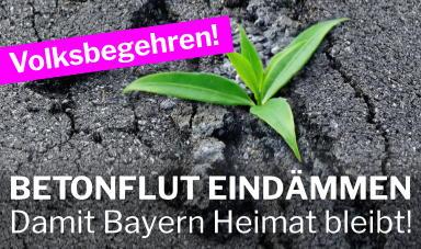 """Pressemitteilung Volksbegehren """"Damit Bayern Heimat bleibt"""""""