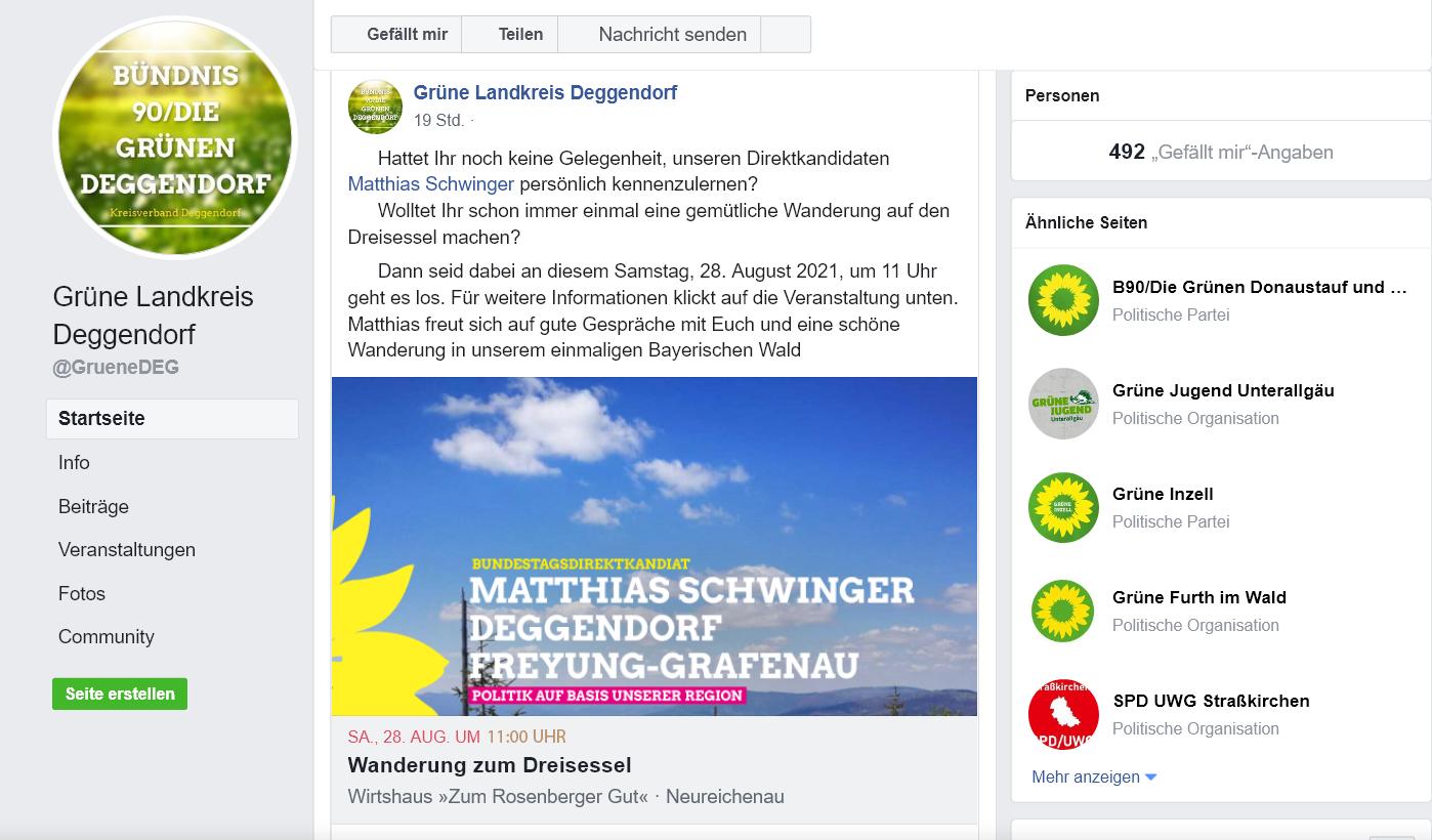 GrüneDEG jetzt auf facebook