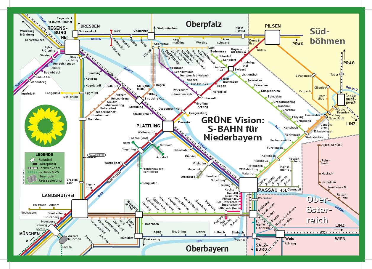"""Konzept für eine """"S-Bahn in Niederbayern"""""""